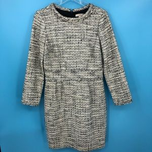 J Crew Women's 6 Boucle Black & White Dress